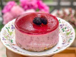 Bí quyết làm bánh cheesecake dâu tằm mát lạnh