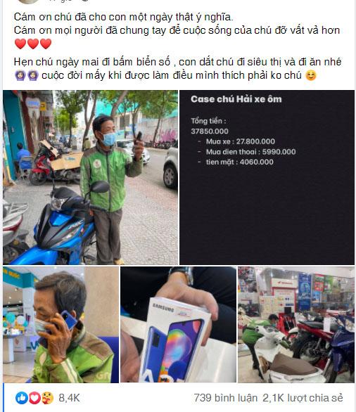 Chân dung cô gái Sài Gòn mua xe máy và điện thoại mới cho chú xe ôm - Ảnh 11