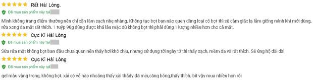 """4 sữa rửa mặt Việt Nam đúng chuẩn ngon bổ rẻ, xem xong loạt review từ người dùng thì ai cũng muốn """"múc"""" ngay một em - Ảnh 2"""