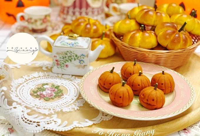 Bánh bí ngô ngộ nghĩnh cho Halloween